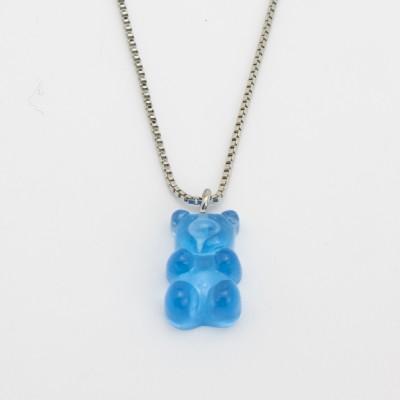 Colar Prateado Gummy Bear BLUE