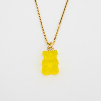 Colar Dourado Gummy Bear AMARELO