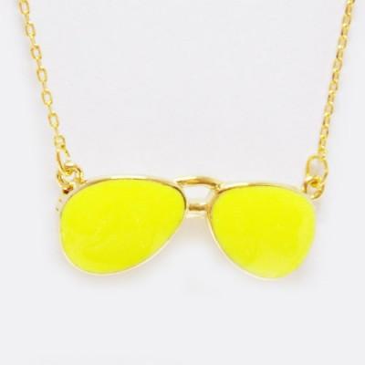 Colar Óculos de Sol Neon Amarelo